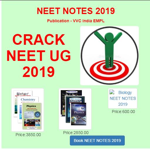 Download NEET Medical Entrance exam UG Study Notes 2019