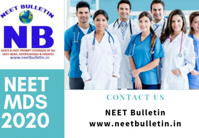 NEET MDS 2020 Online application form available for Dental PG Course