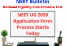 NEET UG 2020 Application form