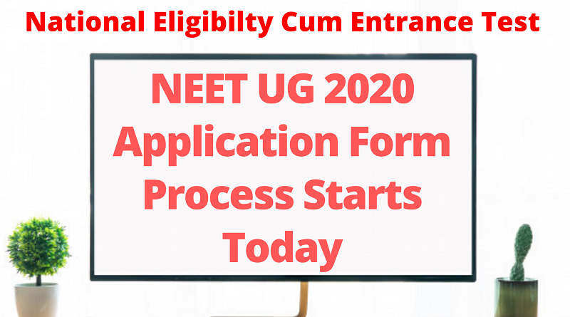 NEET UG 2020 Application form