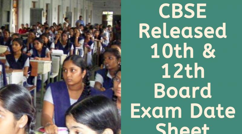 cbse 2020 board exam dates