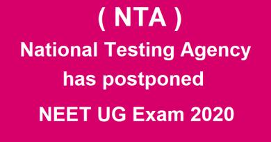 National Testing Agency has postponed NEET UG Exam 2020