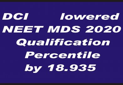 Dental Council of India has lowered the NEET MDS Qualification percentile by 18.935.