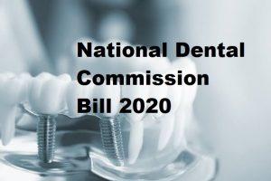 National Dental Commission Bill 2020